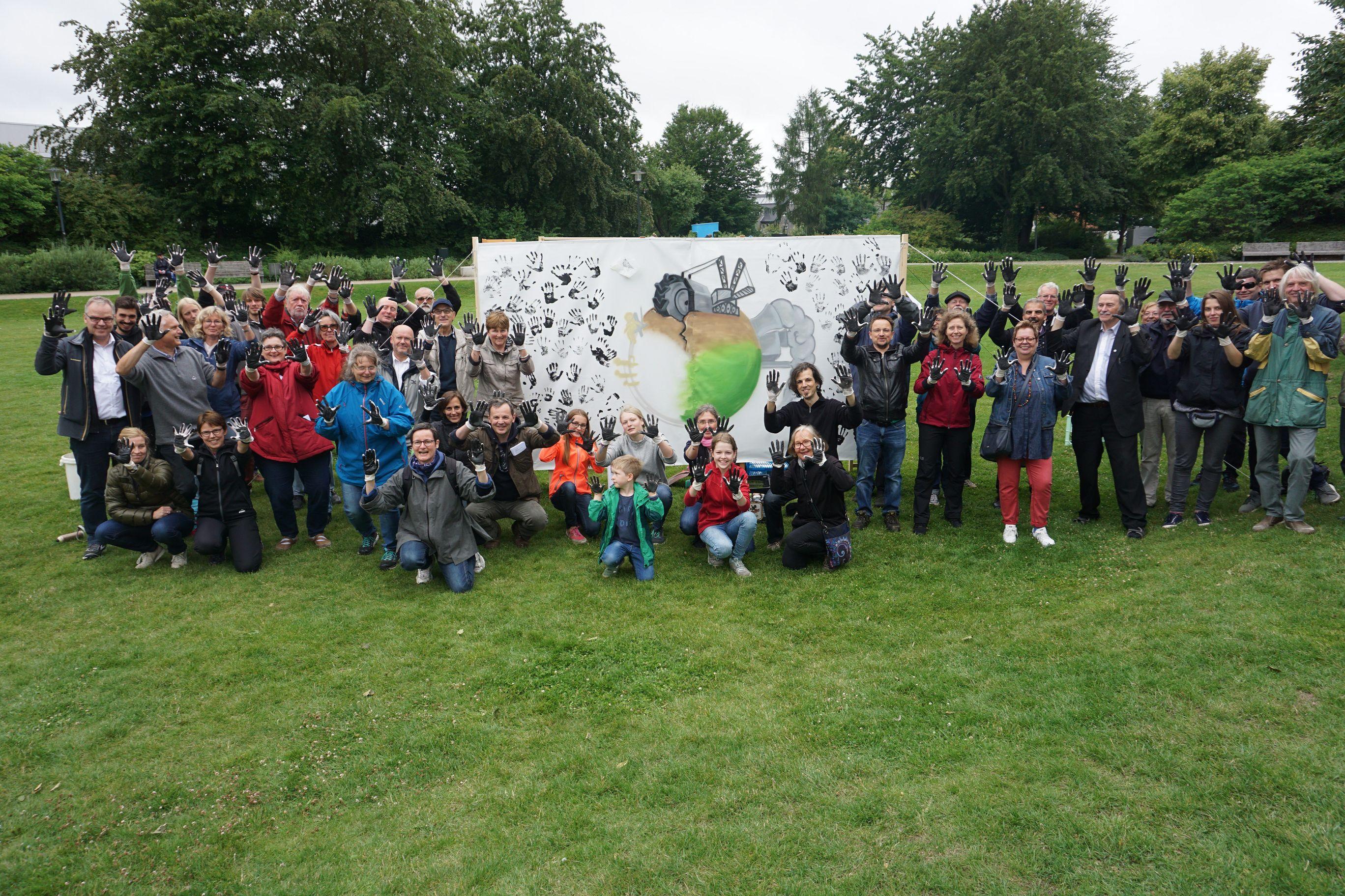 Klimaschutzinitiative Rheda-Wiedenbrück demonstriert für den Kohleausstieg